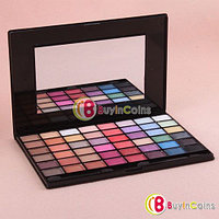 Косметическая палитра 48 цветов теней для век, румяна и блеск для губ , фото 1