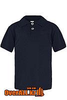 Темно-синяя детская рубашка поло, фото 1