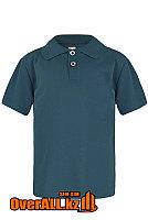 Синяя рубашка поло для детей, фото 1
