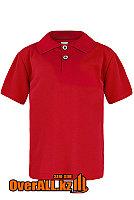 Детская рубашка поло, красная, фото 1