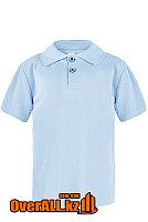 Детская рубашка поло, голубая, фото 1