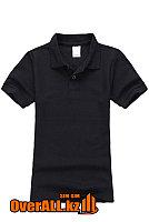 Черная футболка поло для детей, фото 1