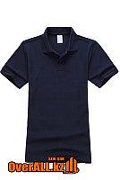 Темно-синяя детская футболка поло, фото 1