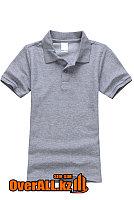Детская футболка поло, серая, фото 1