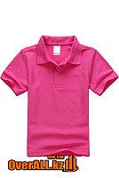Детская футболка поло цвета фуксии, фото 1