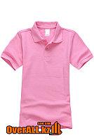 Розовая детская футболка поло, фото 1