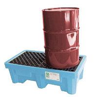 Поддон-контейнер на 2 бочки, с точкой слива жидкости (Код: 1213)