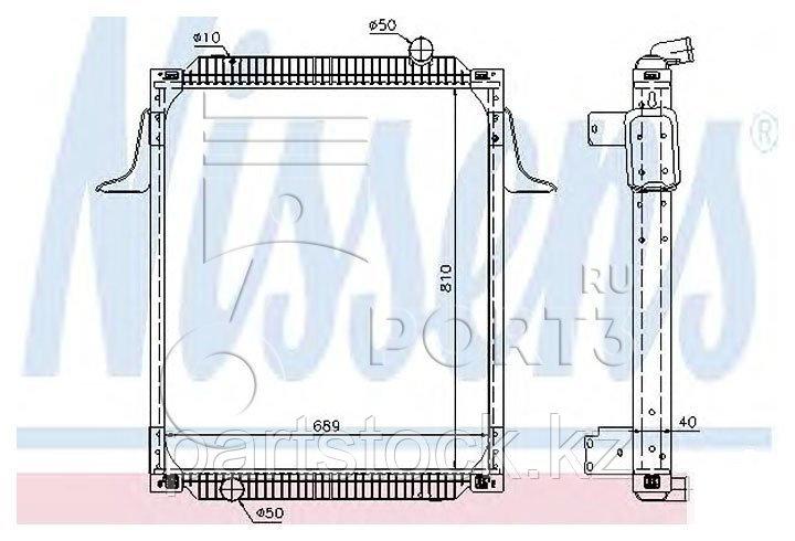 Радиатор водяной Euro 2  на RENAULT, РЕНО, NISSENS 63789A