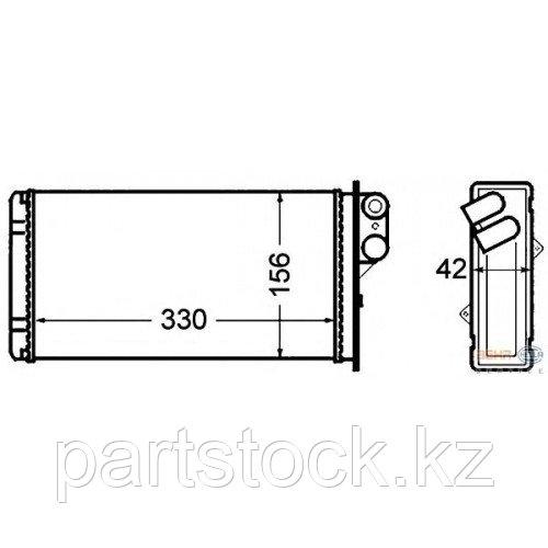 Теплообменник/ радиатор печки   на / для RENAULT, РЕНО, VALEO 812 128