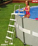 Лестница для бассейна высотой от 122 до 132 см., фото 4