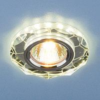 Встраиваемый потолочный светильник со светодиодной подсветкой 2120 MR16 SL зеркальный серебро