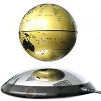 Парящий глобус 10см (золотой) подарок шефу