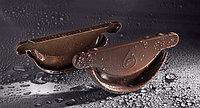 Заглушка желоба стальная для водостоков Flamingo (шоколадный цвет)