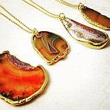 """Кулон на цепочке """" Agate slice necklace"""", фото 3"""
