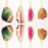 """Кулон на цепочке """" Agate slice necklace"""", фото 4"""