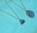 """Кулон на цепочке """"Blue Aura Druzy Quartz Necklace"""", фото 4"""