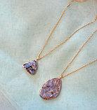 """Кулон на цепочке """"Blue Aura Druzy Quartz Necklace"""", фото 5"""