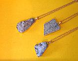 """Кулон на цепочке """"Blue Aura Druzy Quartz Necklace"""", фото 6"""
