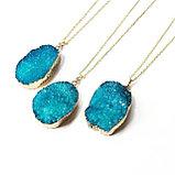 """Кулон на цепочке """"Blue Aura Druzy Quartz Necklace"""", фото 8"""