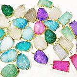 """Кулон на цепочке """"Blue Aura Druzy Quartz Necklace"""", фото 9"""