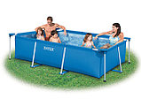 Прямоугольный бассейн каркасный Intex Rectangular Frame Pool 300х200х75см, фото 2