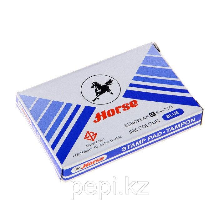 Штемпельная  подушка Horse №3 (85*54) синяя