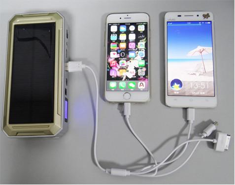 """Универсальное пуско-зарядное устройство """"JumpStarter Solar"""" с солнечной панелью позволяет заряжать самые разные модели мобильных телефонов и смартфонов"""