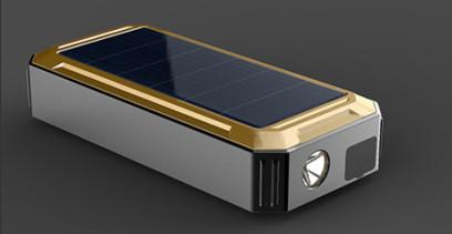 """На базе пуско-зарядного устройства """"JumpStarter Solar"""" установлен светодиодный фонарик повышенной яркости, что делает данную модель еще более универсальной"""