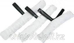 Пластиковая ручка с шубкой для мытья стекла 35 см.