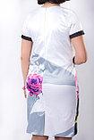 Эффектное стильное платье прилегающего силуэта из полотна сатин-стрейч. Размер - 54., фото 3