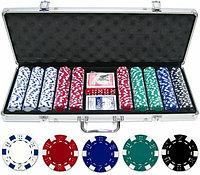 Покер в чемодане 500 фишек