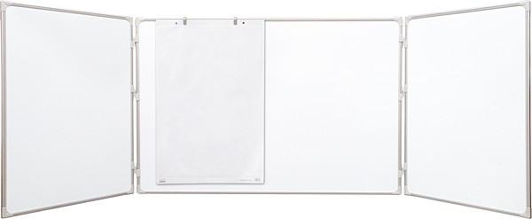Доска маркерная магнитная TRYPTYK размер: 100х150/300 см в алюминиевой рамке E-Line 2x3 (Польша)