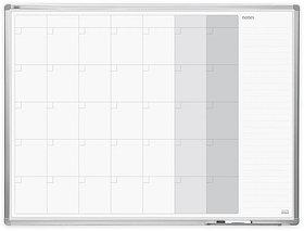 Доска месячный планер - записная книжка в раме ALU23 90x60 см 2x3 (Польша)