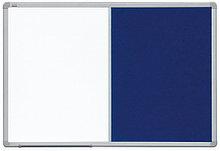 Доска COMBI маркерная магнитная/ текстильная голубая 90х60 см 2x3 (Польша)