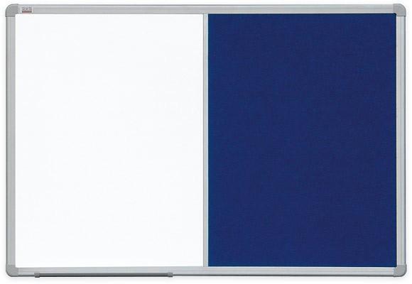 Доска COMBI маркерная магнитная/ текстильная серая 120х90 см 2x3 (Польша)