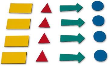 Символы магнитные х 4 листа 2x3 (Польша)