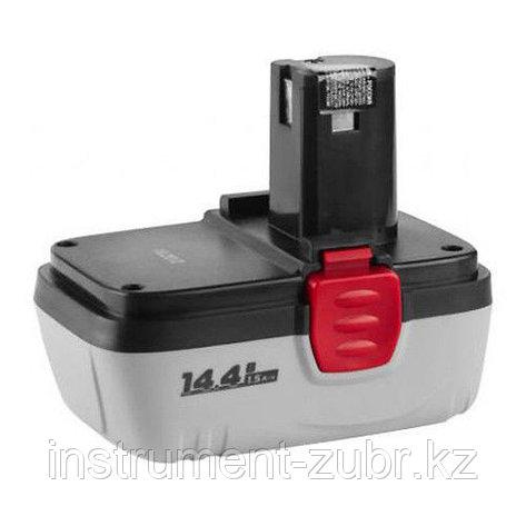 Аккумуляторная батарея увеличенной емкости 14.4 В, N-Cd, 2.0 Ач, ЗУБР, фото 2