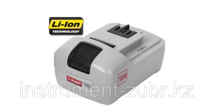 Батарея аккумуляторная Li-Ion, ЗУБР ЗАКБ-18-Ли, для шуруповертов ЗДА-18-Ли-К(Н), 1.5А/ч, 18В, фото 2