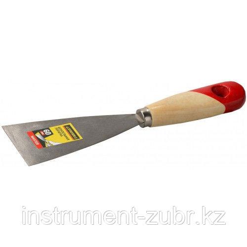 """Шпательная лопатка STAYER """"MASTER"""" c деревянной ручкой, 80 мм"""