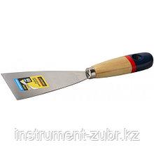 """Шпательная лопатка STAYER """"PROFI"""" c нержавеющим полотном, деревянная ручка, 40мм"""