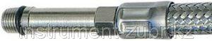 Подводка гибкая ЗУБР для воды, к смесителям, оплетка из нержавеющей стали, удлиненная, г/ш 0,4м, фото 2
