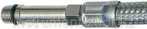 Подводка гибкая ЗУБР для воды, к смесителям, оплетка из нержавеющей стали, удлиненная, г/ш 1м, фото 2