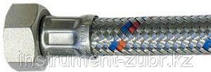 """Подводка гибкая ЗУБР для воды, оплетка из нержавеющей стали, г/г 1/2"""" - 1,5м, фото 2"""