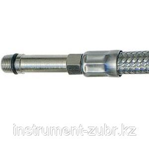 Подводка гибкая ЗУБР для воды, к смесителям, оплетка из нержавеющей стали, удлиненная, г/ш 0,8м, фото 2
