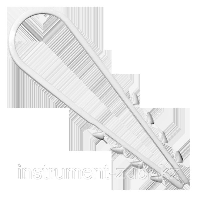 Дюбель-хомут для круглого кабеля ДХ-К, 19 - 25 мм, 10 шт, нейлоновый, ЗУБР