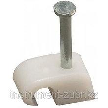 Скоба-держатель круглая СД-К 4 мм, 50 шт, с оцинкованным гвоздем, ЗУБР