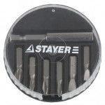 "Набор STAYER Биты ""MASTER"" с магнитным адаптером в круглом мини-боксе, PH1, PH2, PH3, PZ1, PZ2, PZ3, 7 пред                                           , фото 2"