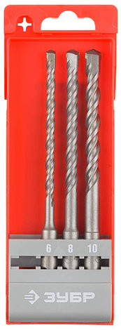 Набор: Буры по бетону, SDS-plus, 6/8/10 х 160 мм, 3шт, в боксе, ЗУБР, фото 2
