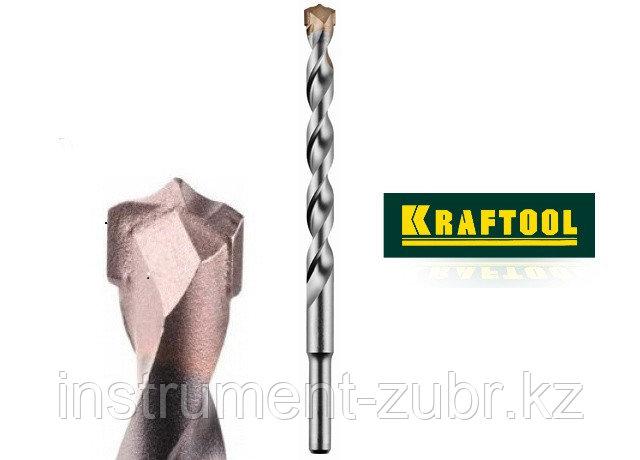 Сверло KRAFTOOL по бетону, ударное с самоцентрирующим наконечником, цилиндрический хвостовик, d8х200мм                  , фото 2