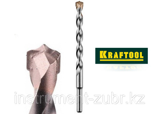 Сверло KRAFTOOL по бетону, ударное с самоцентрирующим наконечником, цилиндрический хвостовик, d14х200мм                 , фото 2